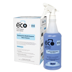 Eco Multi-Purpose Glass Cleaner E13, Spray and Box