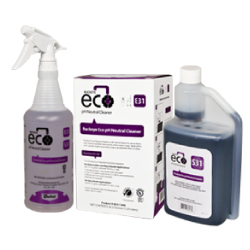 Buckeye Eco pH Neutral Cleaner E31 / S31, spray bottle and box