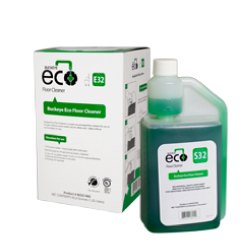 Buckeye Eco Floor Cleaner E32 / S32, bottle and box