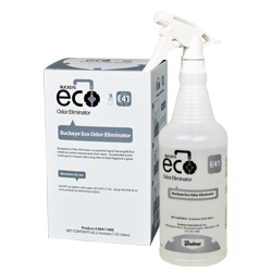 Buckeye Eco Odor Eliminator E41, spray and box.